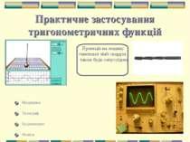 * Практичне застосування тригонометричних функцій Медицина Телеграф Будівницт...