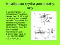Мембранна трубка для аналізу газу Є ще конструкції − з детектором V-подібної ...
