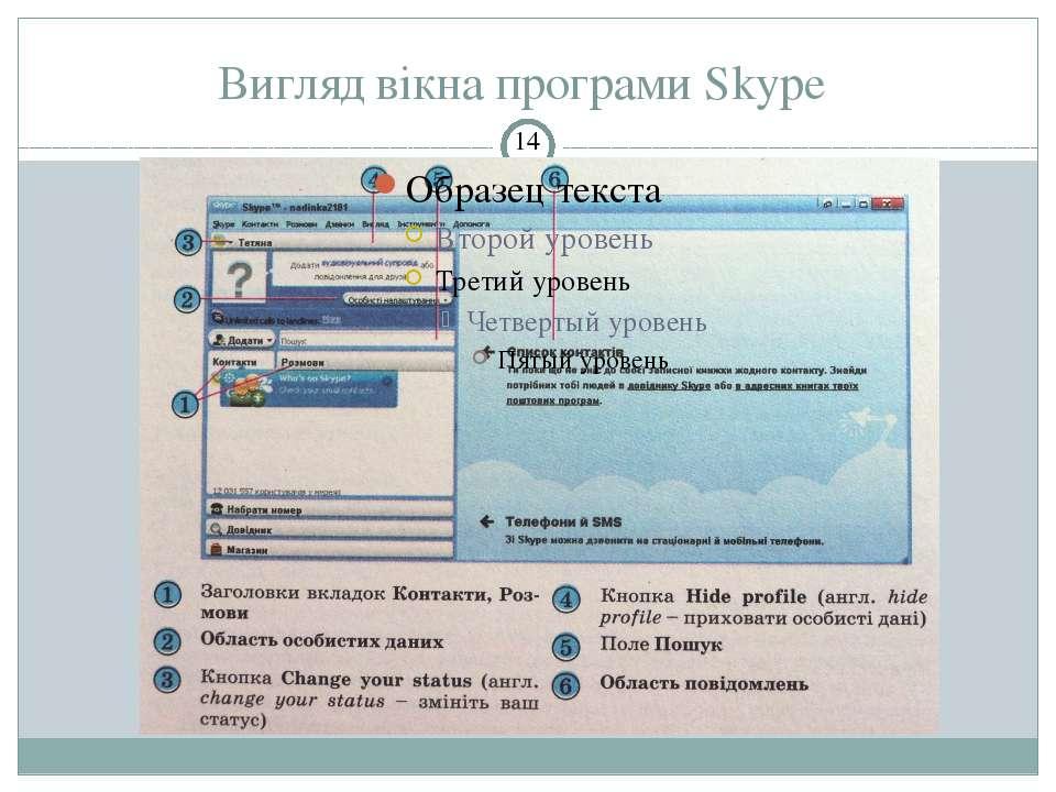 Вигляд вікна програми Skype СЗОШ № 8 м.Хмельницького. Кравчук Г.Т.