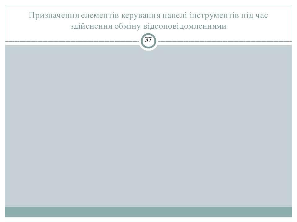 Призначення елементів керування панелі інструментів під час здійснення обміну...