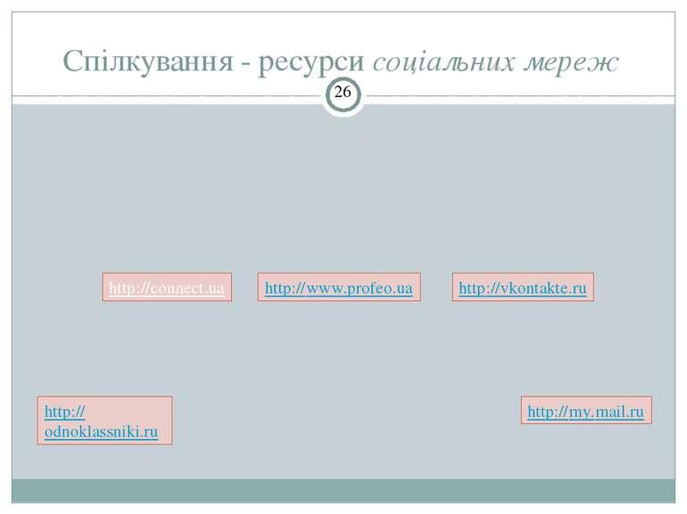 Спілкування - ресурси соціальних мереж СЗОШ № 8 м.Хмельницького. Кравчук Г.Т....