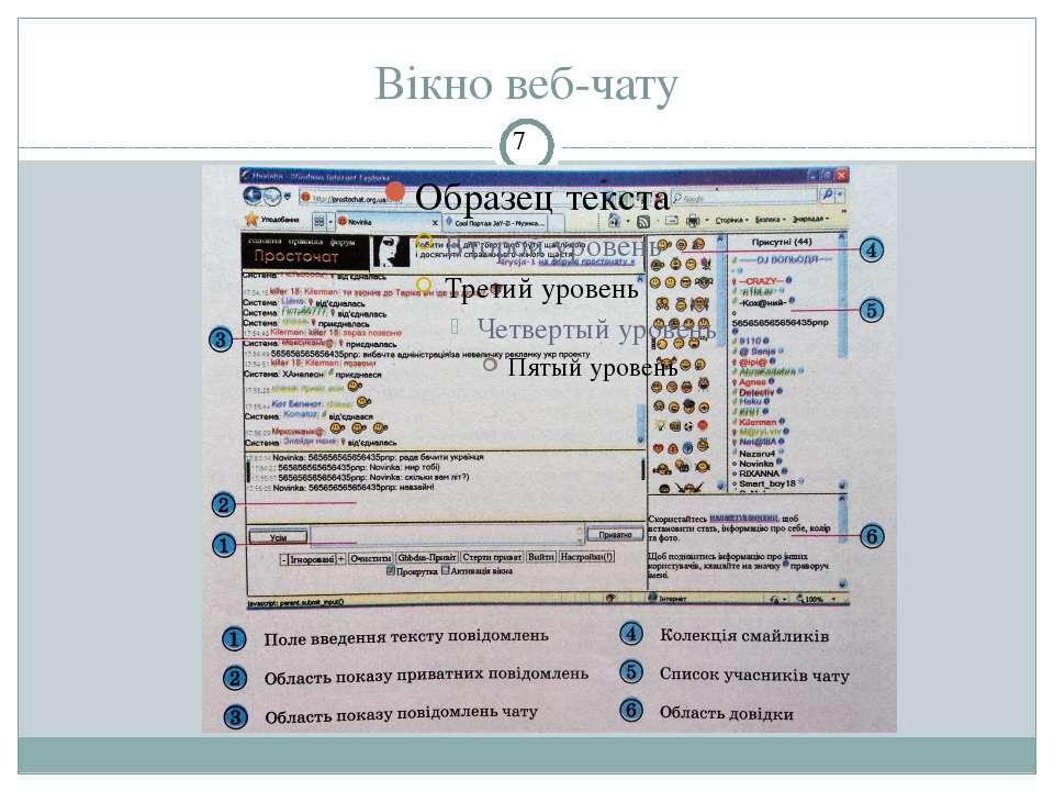 Вікно веб-чату СЗОШ № 8 м.Хмельницького. Кравчук Г.Т.