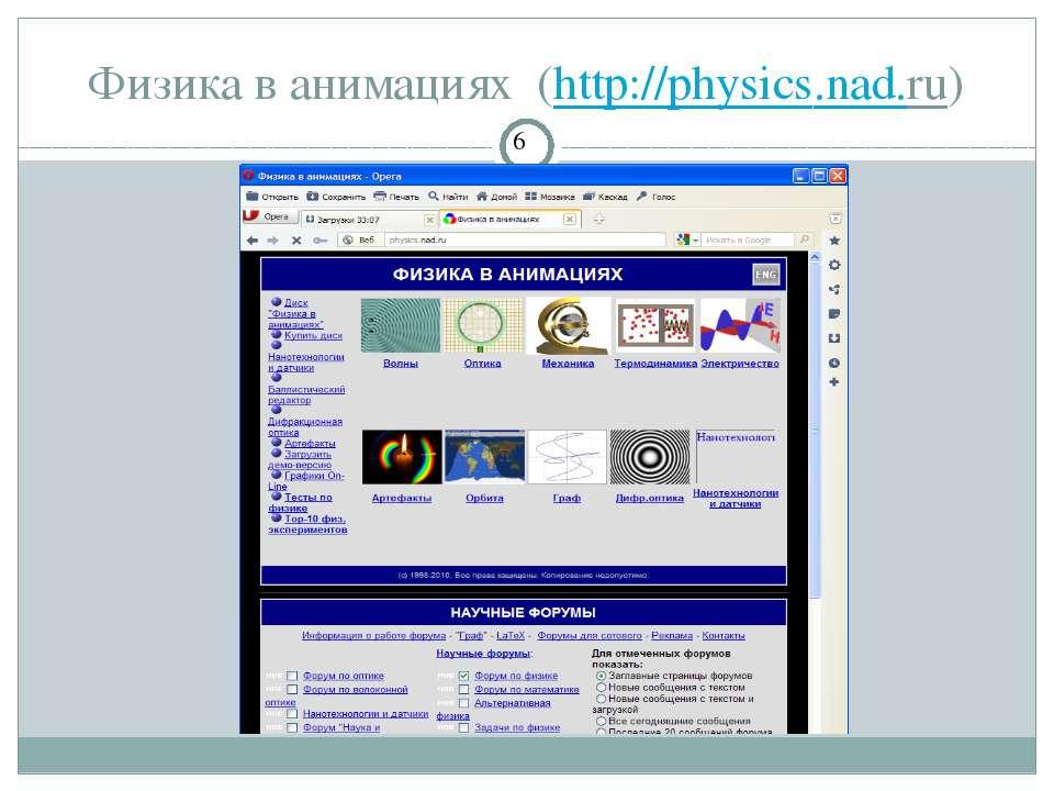 Физика в анимациях (http://physics.nad.ru) СЗОШ № 8 м.Хмельницького. Кравчук ...