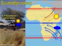 Акація у Сахарі 2. АТМОСФЕРНА ЦИРКУЛЯЦІЯ Низький тиск Високий тиск Високий ти...