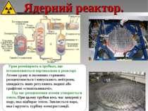 Ядерний реактор. Уран розміщують в трубках, що встановлюються вертикально в р...