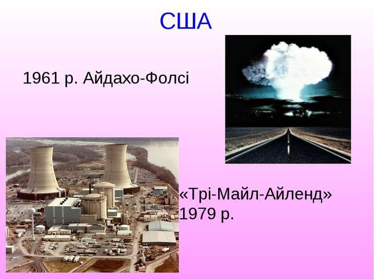 США 1961 р. Айдахо-Фолсі «Трі-Майл-Айленд» 1979 р.