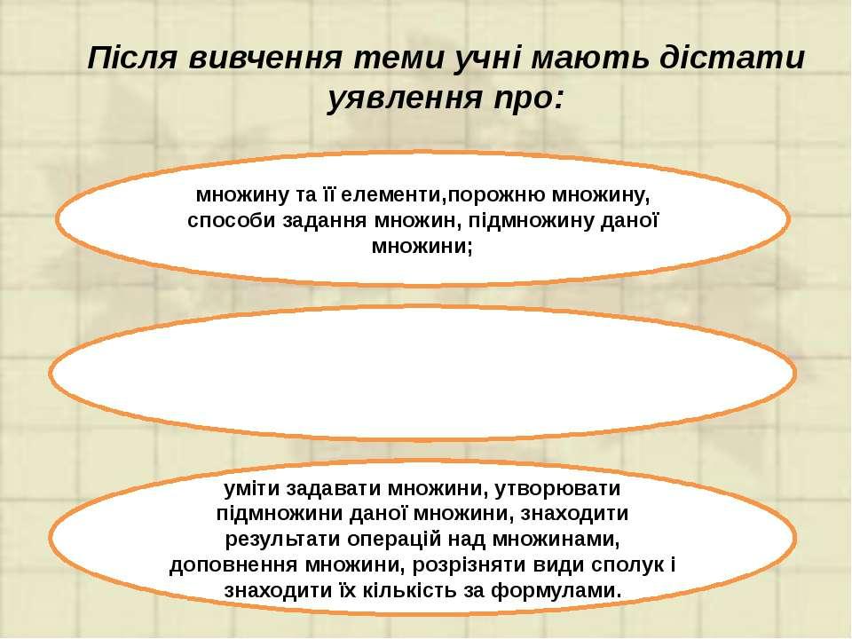 Пропедевтика елементів комбінаторики