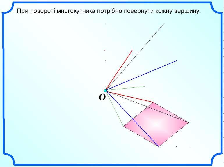 При повороті многокутника потрібно повернути кожну вершину.