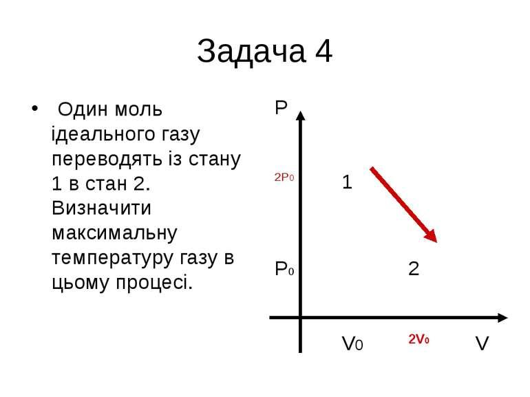 Задача 4 Один моль ідеального газу переводять із стану 1 в стан 2. Визначити ...