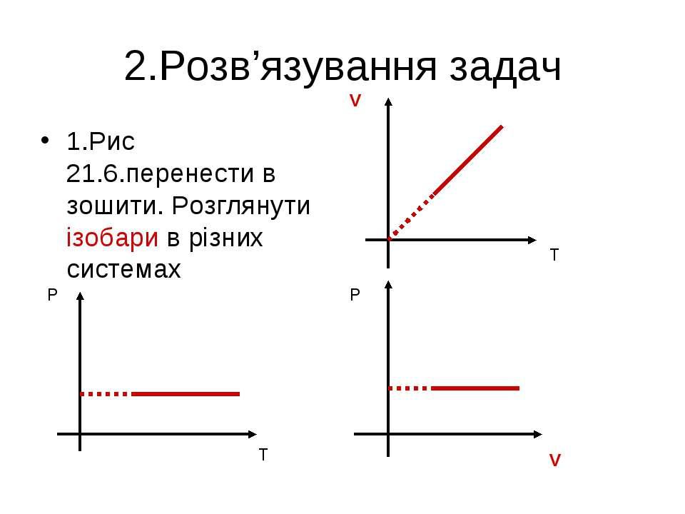 2.Розв'язування задач 1.Рис 21.6.перенести в зошити. Розглянути ізобари в різ...