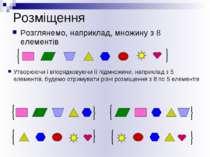 Розміщення Розглянемо, наприклад, множину з 8 елементів Утворюючи і впорядков...
