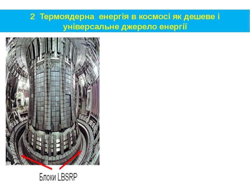 2 Термоядерна енергія в космосі як дешеве і універсальне джерело енергії