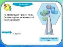 http://edu-teacherzv.ucoz.ru Відповідь На прямій дано 7 різних точок. Скільки...