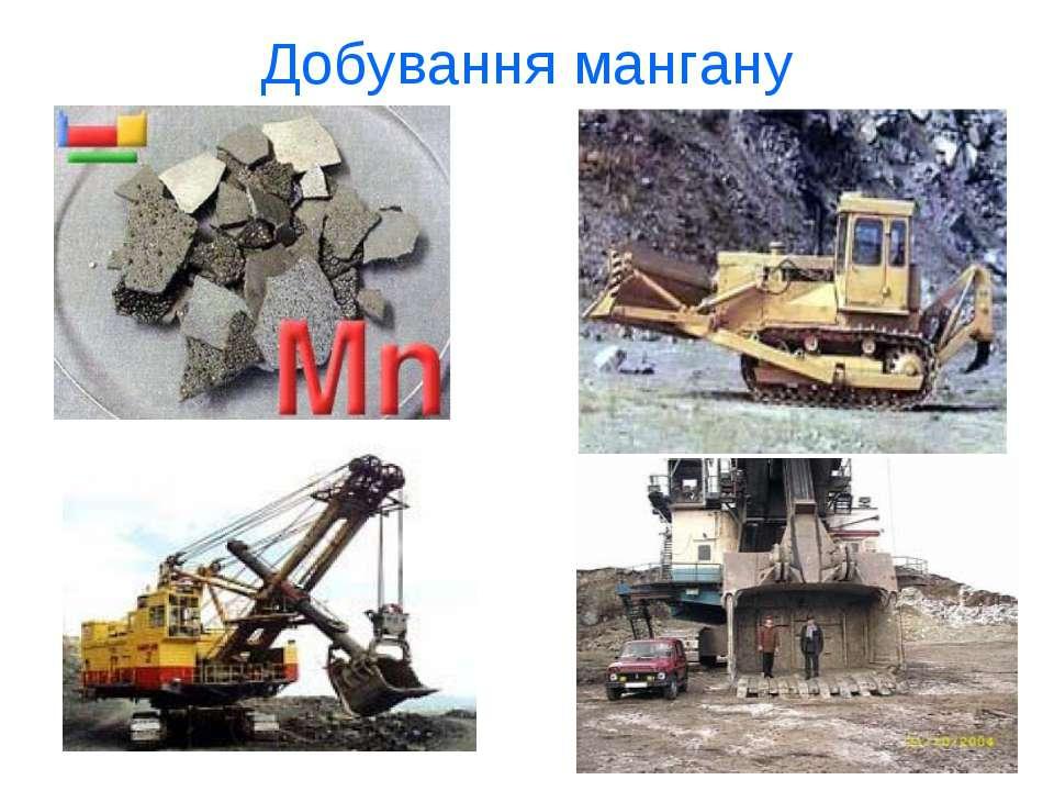 Добування мангану