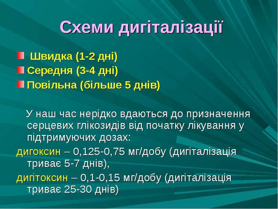 Схеми дигіталізації Швидка (1-2 дні) Середня (3-4 дні) Повільна (більше 5 дні...