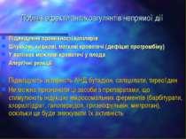Побічні ефекти антикоагулянтів непрямої дії Підвищення проникності капілярів ...