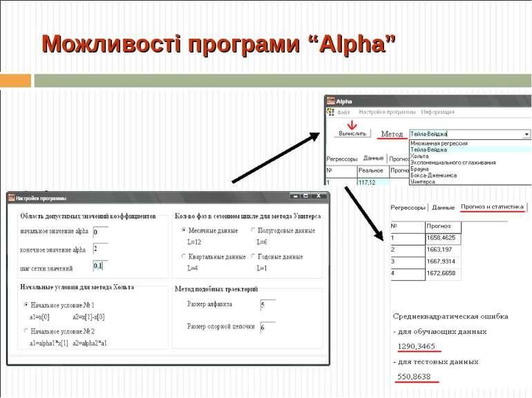"""Можливості програми """"Alpha"""""""