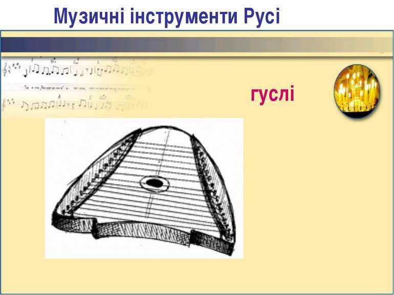 Музичні інструменти Русі гуслі