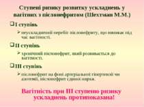 Ступені ризику розвитку ускладнень у вагітних з пієлонефритом (Шехтман М.М.) ...