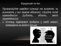 Юридичний лік без Проаналізуйте наведені ситуації та визначте, чи виникають у...