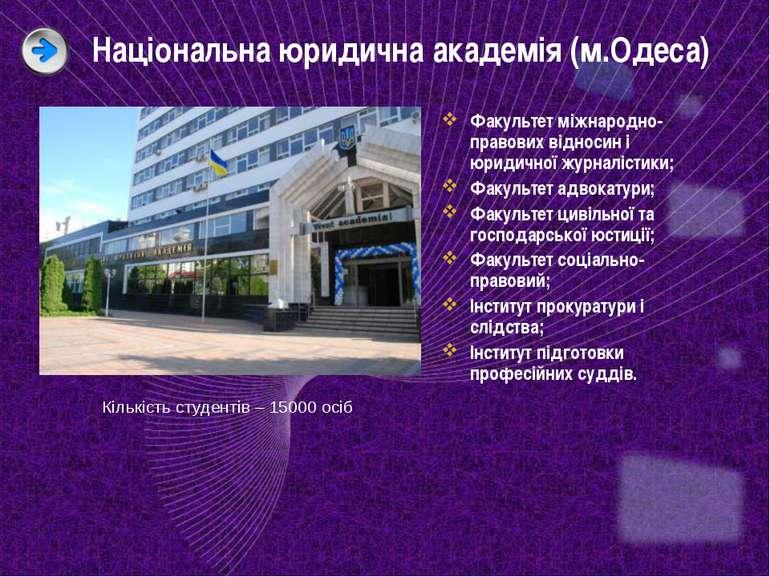 Національна юридична академія (м.Одеса) Факультет міжнародно-правових відноси...