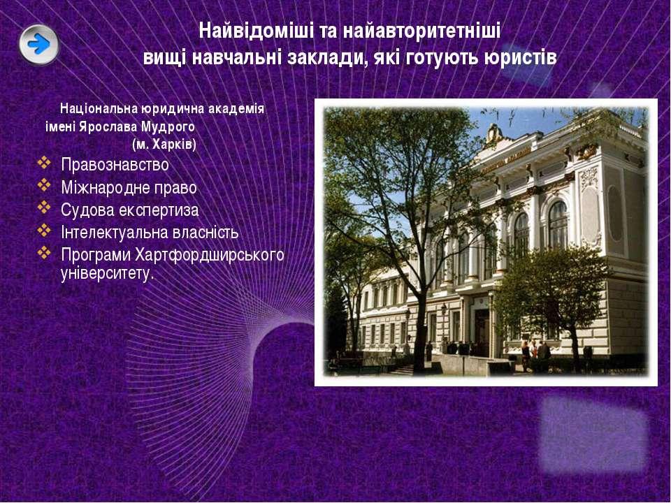 Найвідоміші та найавторитетніші вищі навчальні заклади, які готують юристів Н...