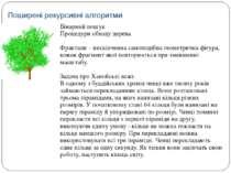 Бінарний пошук Процедури обходу дерева Фрактали – нескінченна самоподібна гео...