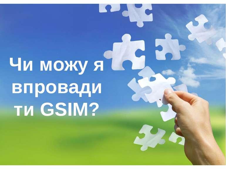 Чи можу я впровадити GSIM?