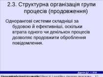 2.3. Структурна органiзацiя групи процесiв (продовження) Одноранговi системи ...