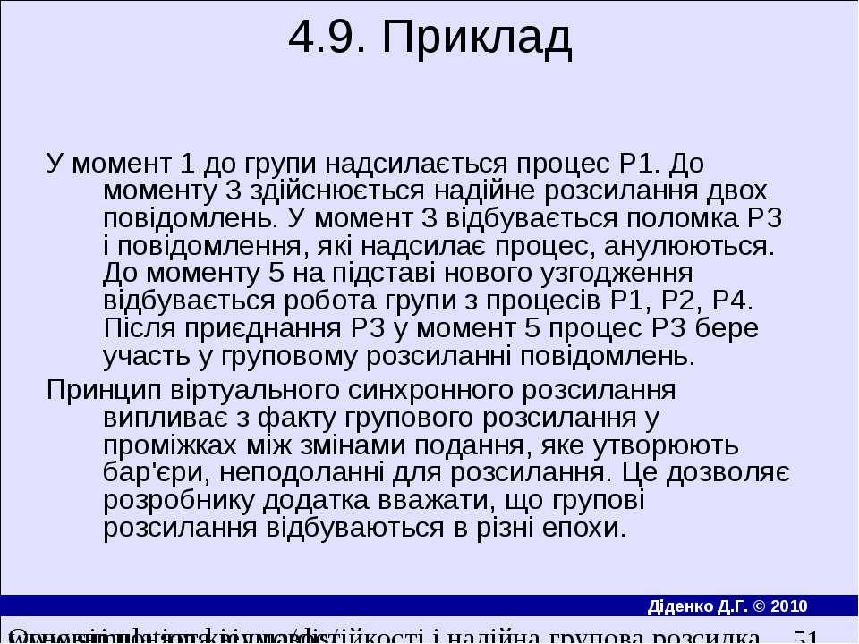 4.9. Приклад У момент 1 до групи надсилається процес P1. До моменту 3 здiйсню...