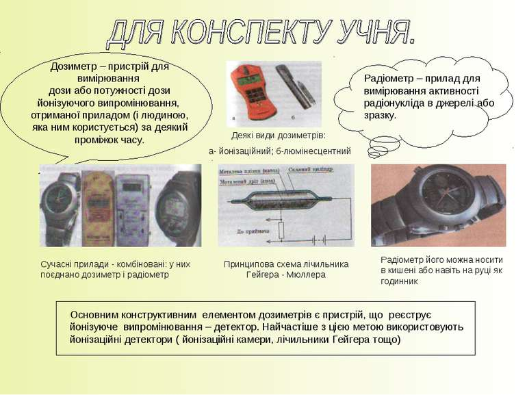 Дозиметр – пристрій для вимірювання дози або потужності дози йонізуючого випр...