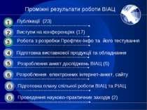 Проміжні результати роботи ВІАЦ Розроблення анкет досліджень ВІАЦ (5)