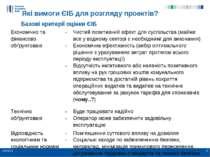 Які вимоги ЄІБ для розгляду проектів? Базові критерії оцінки ЄІБ * * Економіч...