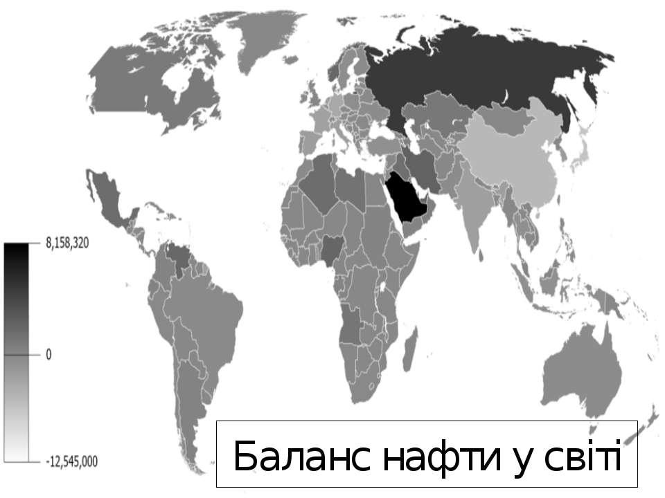 Баланс нафти у світі
