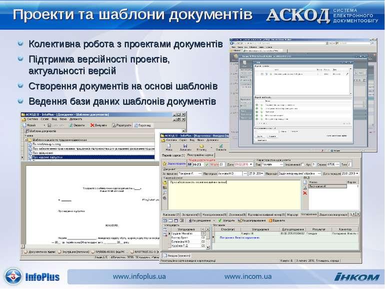 Проекти та шаблони документів Колективна робота з проектами документів Створе...