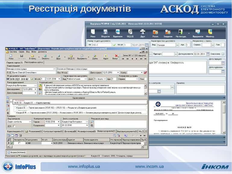 Реєстрація документів