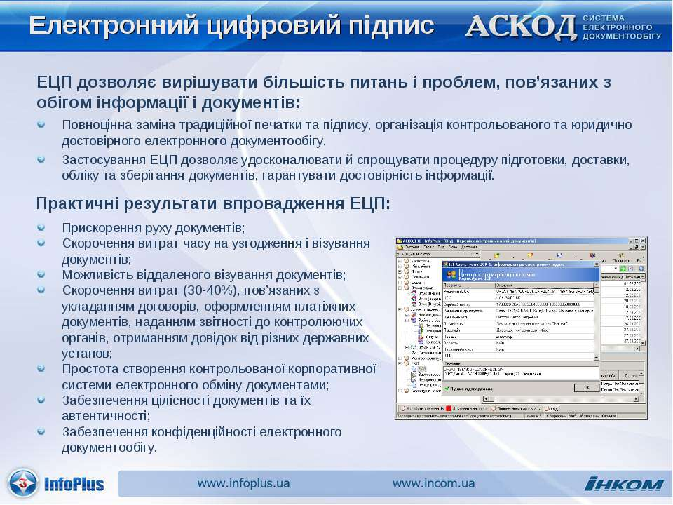 Електронний цифровий підпис Повноцінна заміна традиційної печатки та підпису,...