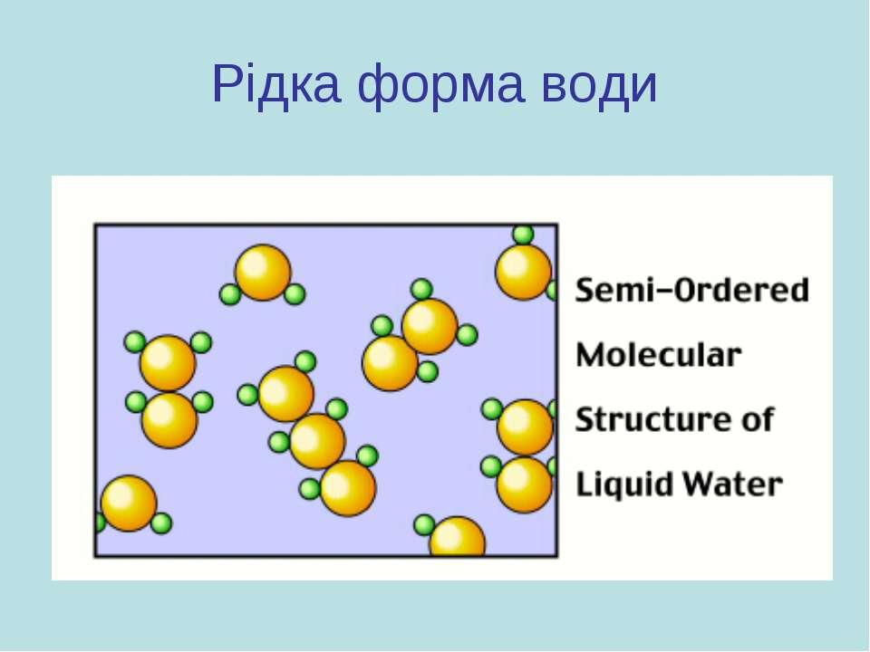 Рідка форма води
