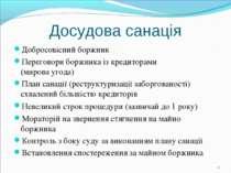 Досудова санація Добросовісний боржник Переговори боржника із кредиторами (ми...