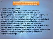 1.Загальні положення Особа, яка відповідальна за експлуатацію холодильних ш...