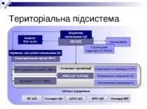 Територіальна підсистема МОВВ Керівник начальник ЦЗ Територіальний орган МНС ...