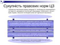 Сукупність правових норм ЦЗ Обмеження в тому чи іншому обсязі прав і свобод г...