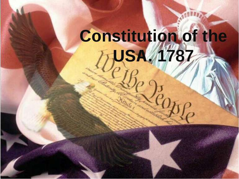 Constitution of the USA. 1787