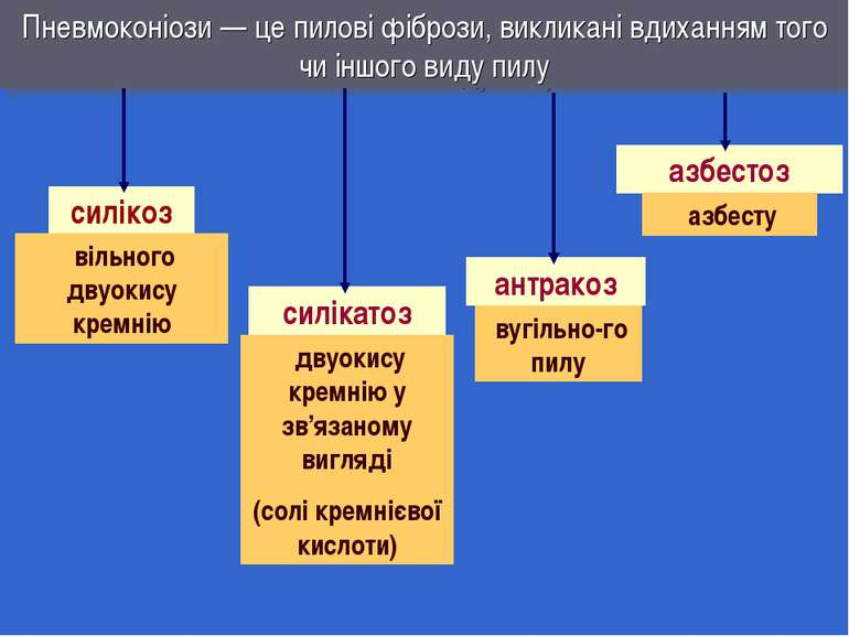 Пневмоконіози — це пилові фібрози, викликані вдиханням того чи іншого виду пи...