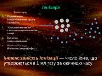 Іонізація Іонізатори: Радіоактивне випромінювання грунту та повітря Ультрафіо...