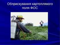 Обприскування картопляного поля ФОС