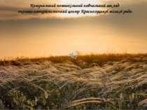 Комунальний позашкільний навчальний заклад еколого-натуралістичний центр Крас...