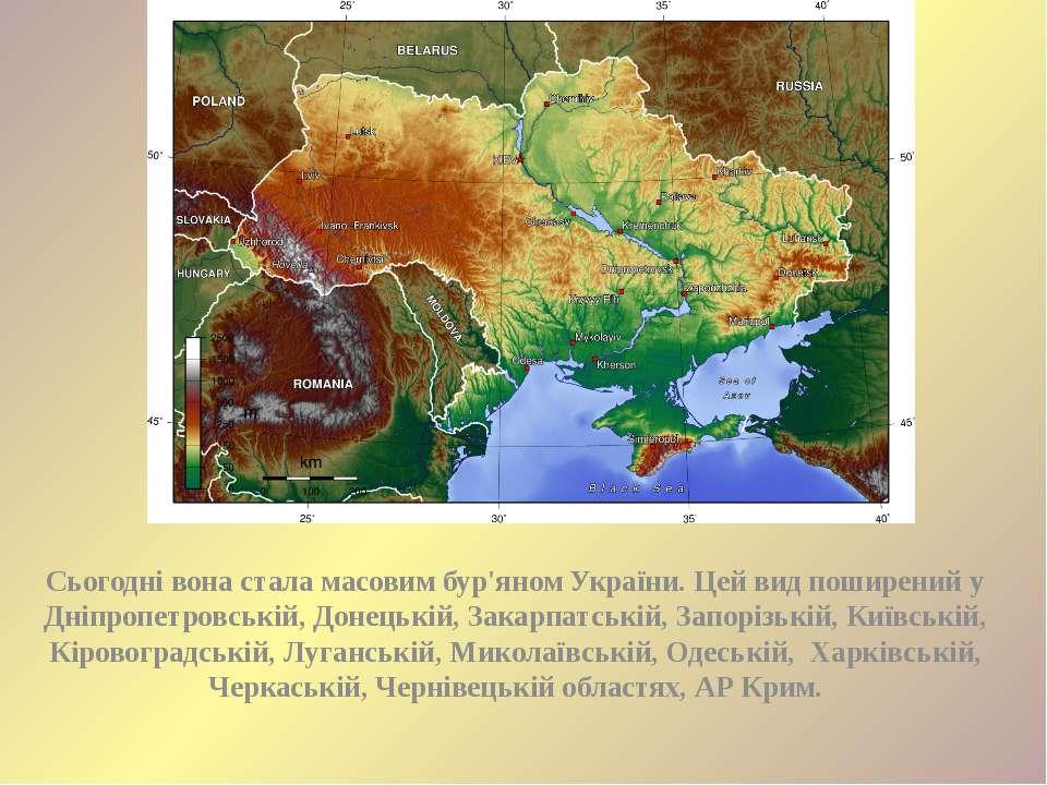 Сьогодні вона стала масовим бур'яном України. Цей вид поширений у Дніпропетро...