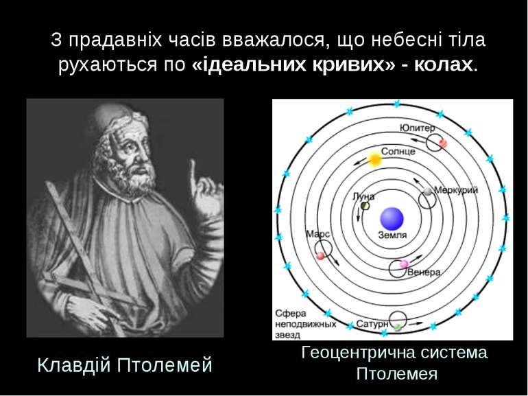 З прадавніх часів вважалося, що небесні тіла рухаються по «ідеальних кривих» ...