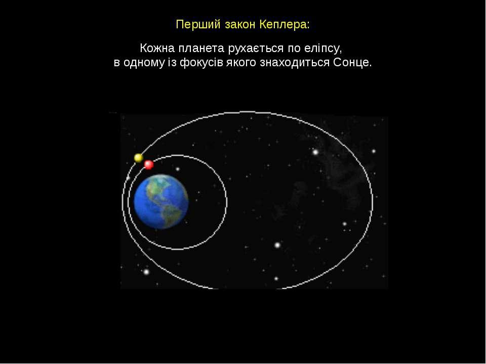 Кожна планета рухається по еліпсу, в одному із фокусів якого знаходиться Сонц...